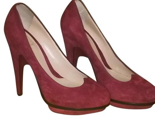 Fendi Burgundy Platforms Image 6