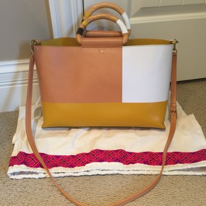 Tory Burch Dust Tote in Natural/Golden Sun