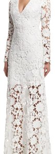 Badgley Mischka Fll Lace Floral Nwt Dress
