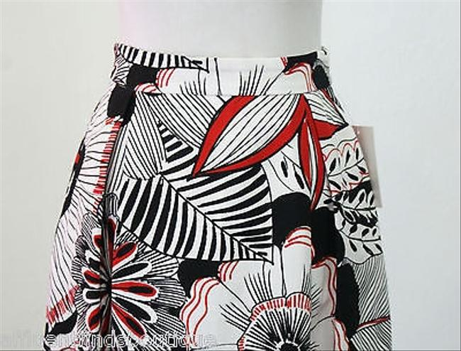 Dolce&Gabbana Pleated Black White And Red Or 46 Skirt Multi-Color
