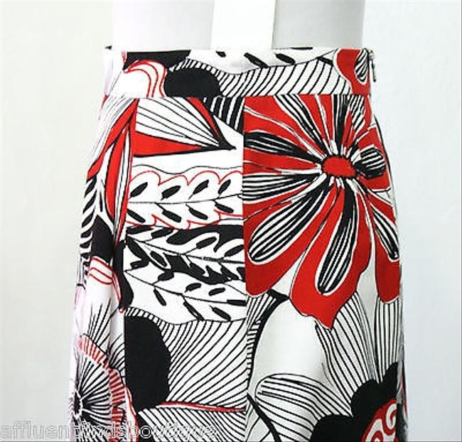 Dolce&Gabbana Pleated Black White And Red 46 Skirt Multi-Color
