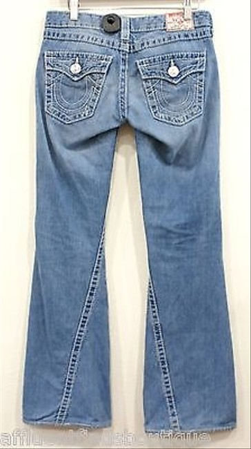 True Religion Joey Big Light Wash Style 24503nbt Or Flare Leg Jeans