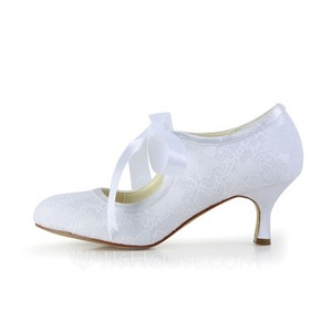 White Lace Wedding Pumps Wedding Shoes