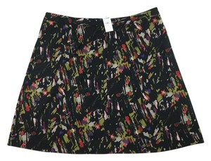 Lane Bryant Abstract Twill A-line Plus-size Skirt Multi-color