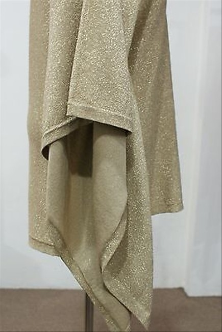 Michael Kors Gold Poncho Wscarf Sweater
