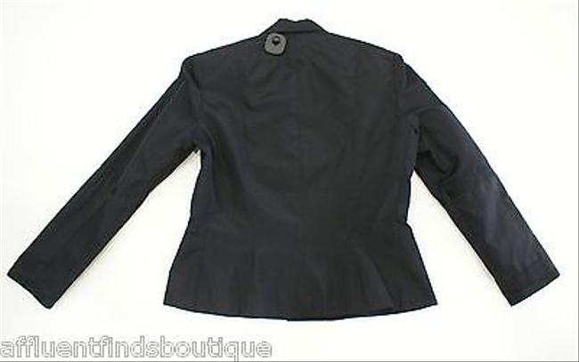 Ralph Lauren Label Silk Blazerjacket With Satin Trim Black Jacket