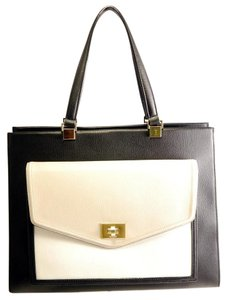 Kate Spade Satchel in Black Cream Beige