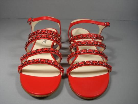 Chanel New Buckle Closure Classic Style Great Walking Red Flats Image 10