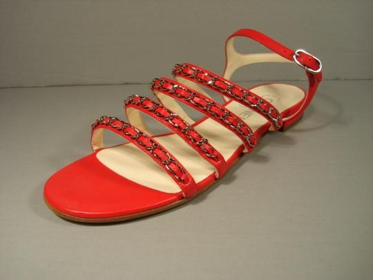 Chanel New Buckle Closure Classic Style Great Walking Red Flats Image 6