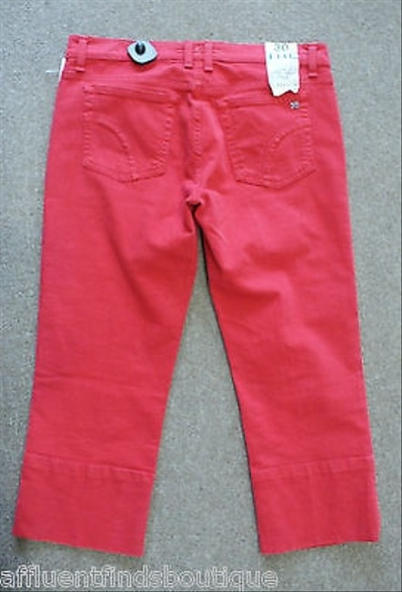 JOE'S Jeans The Socialite Kicker Red Denim Or 810 Capri/Cropped Pants Reds