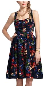 HD in Paris short dress Floral Strappy Strapless Courderoy Adjustable on Tradesy