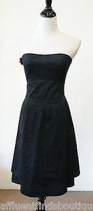 Marc Jacobs short dress Blacks Strapless Cotton on Tradesy