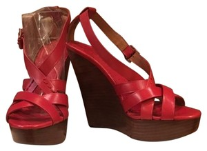 Burberry Russet Red Wedges