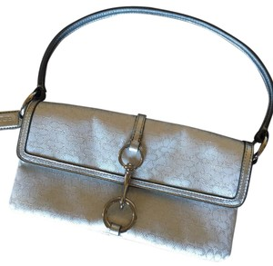 Coach Silver/White Clutch