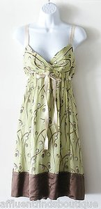 BCBGMAXAZRIA short dress Green Bcbg Max Azria Brown on Tradesy