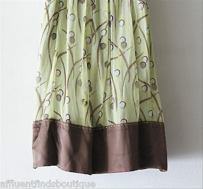 BCBGMAXAZRIA short dress Green Bcbg Max Azria Brown Circle Print Silk on Tradesy