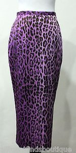 Dolce&Gabbana Leopard Print Silk Or Skirt Purples