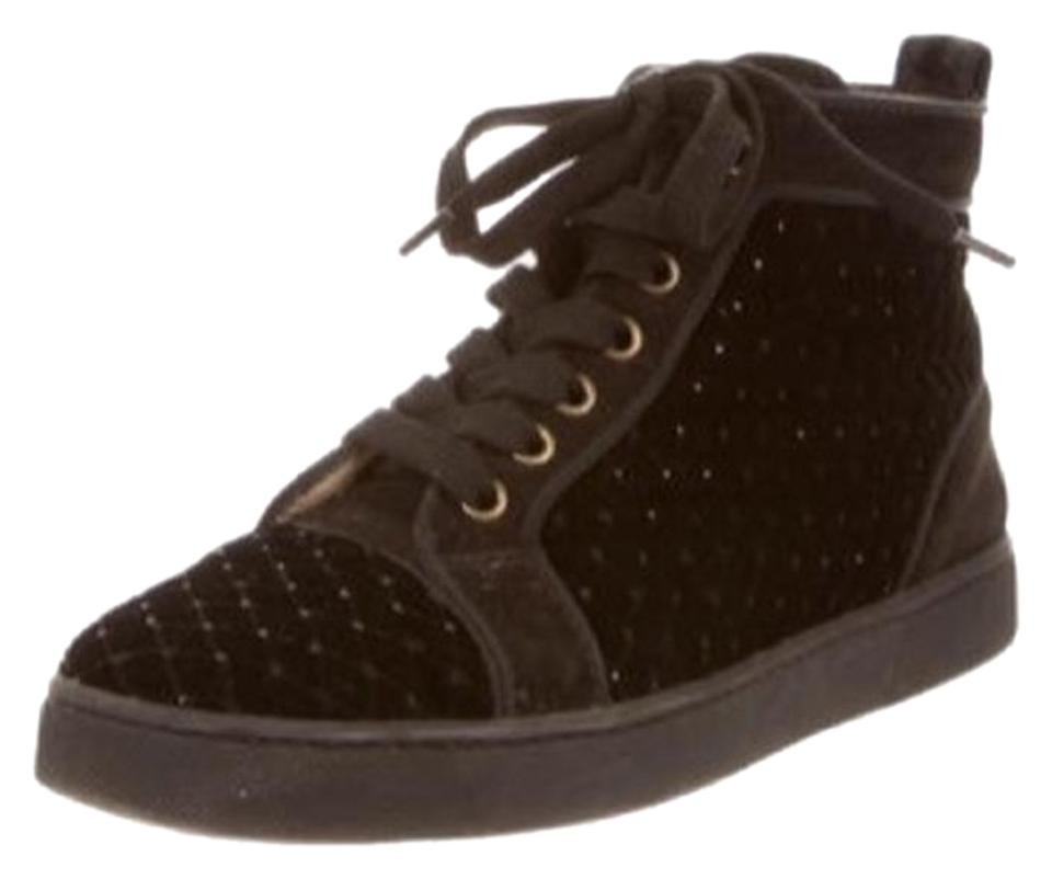 best sneakers e525c 3432e Black Velvet Hi-tops Sneakers