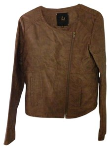 Jack Faux Leather Brown Leather Jacket
