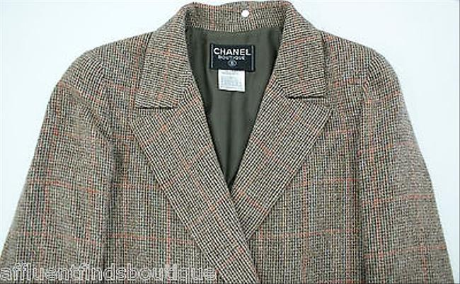 Chanel 98a Tweed Double Breasted Or Brown Jacket