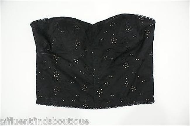 Betsey Johnson Eyelet Bustier Top Blacks