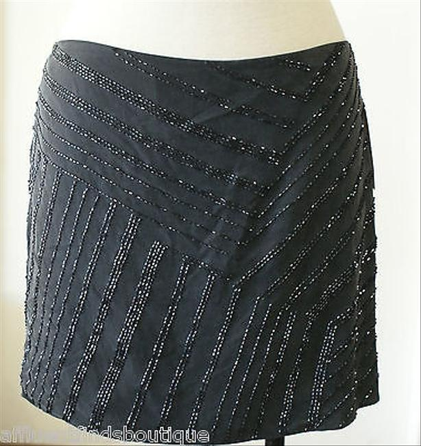 Edun Charcoalsoft Beaded Silk Mini Mini Skirt Black