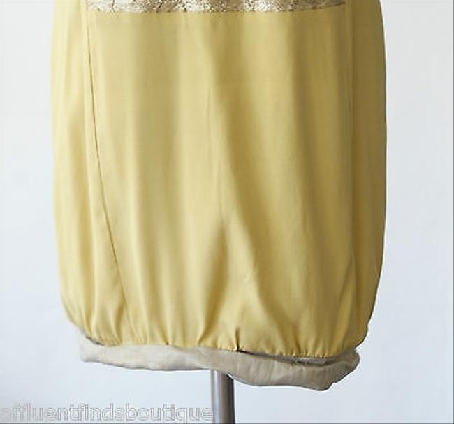 Nicole Miller Collection Goldmustard Silk Dress