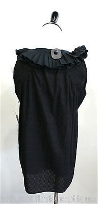 Other All Dressed Up Cotton Ruffle Barneys Top Blacks