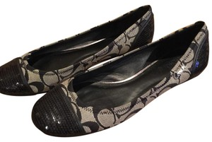 Coach Black & Grey Flats