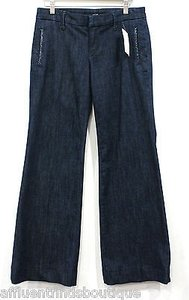 JOE'S Jeans Joes W00092 Ivan Dark Denim Patent Trim Trouser/Wide Leg Jeans
