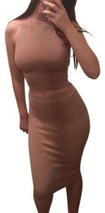 Olivaceous Bodycon Ribbed Sexy Midi Dress