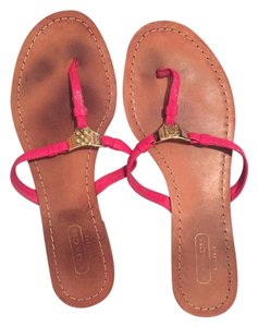 Coach Fall pink and gold Sandals