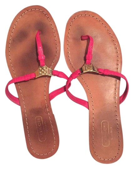 coach flip flop pink and gold sandals on sale 85 off sandals on sale. Black Bedroom Furniture Sets. Home Design Ideas