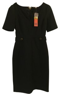 Tory Burch Shift Lbd Notch V Neck Dress