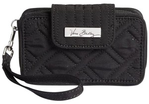 Vera Bradley Quilted Compact Wristlet in Black