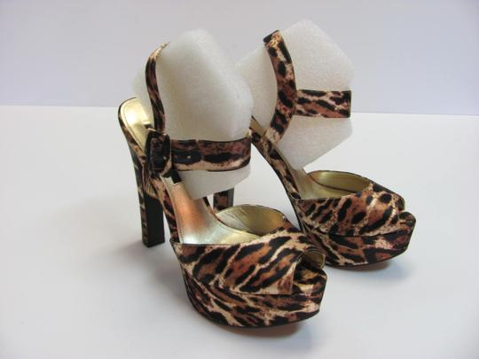 Nina Size 8.50 M Padded Footbed Excellent Condition Black, Brown, Neutral, Platforms Image 2