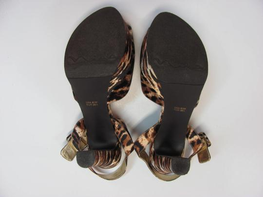 Nina Size 8.50 M Padded Footbed Excellent Condition Black, Brown, Neutral, Platforms Image 6