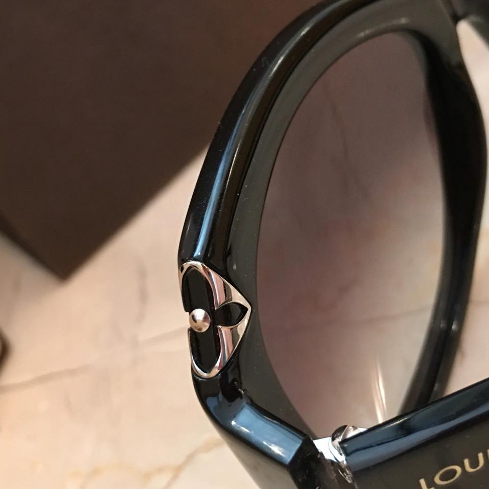 56cec30299 Louis Vuitton Black Glitter Hortensia Cat Eye Sunglasses - Tradesy