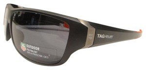 TAG Heuer Tag Heuer 9225 Racer 2 Sunglasses 101 Matt Black / Red Authentic New