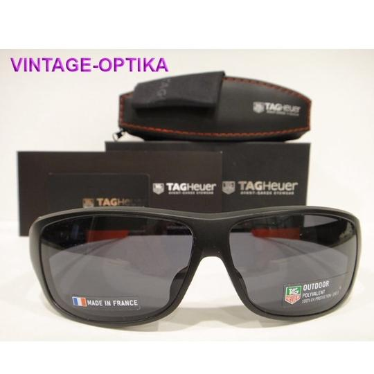 TAG Heuer Tag Heuer 9225 Racer 2 Sunglasses 101 Matt Black / Red Authentic New Image 1