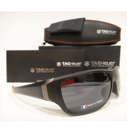 TAG Heuer Tag Heuer 9225 Racer 2 Sunglasses 101 Matt Black / Red Authentic New Image 2
