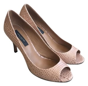 Ann Taylor Classic Embossed Nude Pumps
