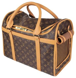 Louis Vuitton Sac Chien Dog Carrier Monogram Canvas Travel Bag