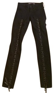 Guess 90s Lace Up Skinny Jeans-Dark Rinse