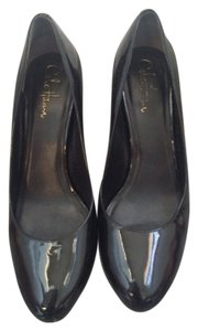 Cole Haan Comfortable Heel Black Patten Leather Pumps