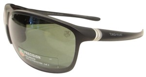 TAG Heuer Tag Heuer 6023 Sport Sunglasses 301 Matt Black / Green Polarized Authentic New