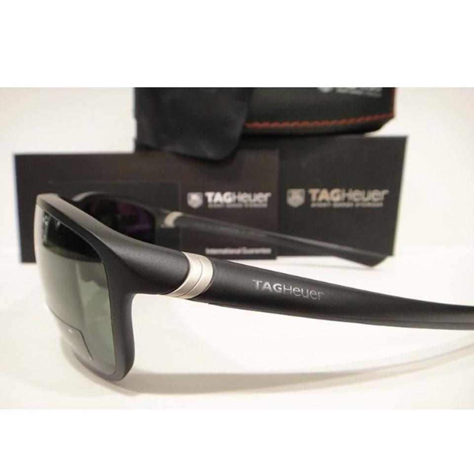 19cf098418 TAG Heuer Tag Heuer 6023 Sport Sunglasses 301 Matt Black   Green Polarized  Authentic New. 1234