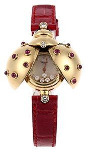 Chopard 18K Yellow Gold Happy Diamonds Ruby Lady's Watch SH-CP0001