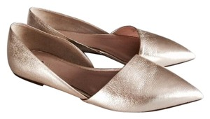 J.Crew Brand Name Gold Flats