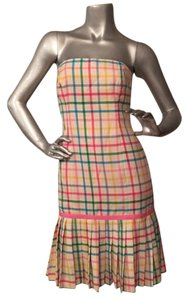 Milly of New York short dress Pink, green, yellow, blue on Tradesy